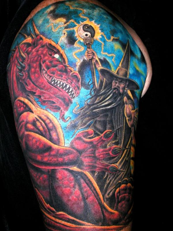 Wizard Dragon Tattoo
